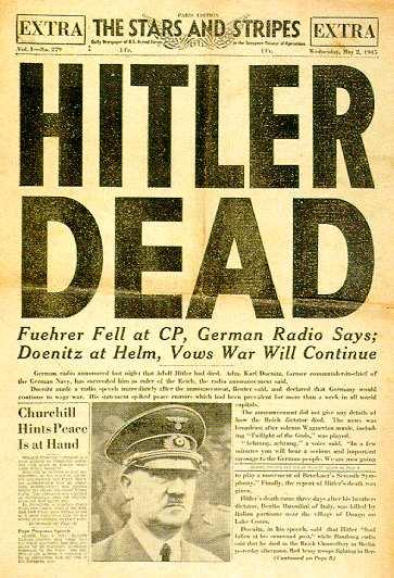اعلام خودکشی هیتلر