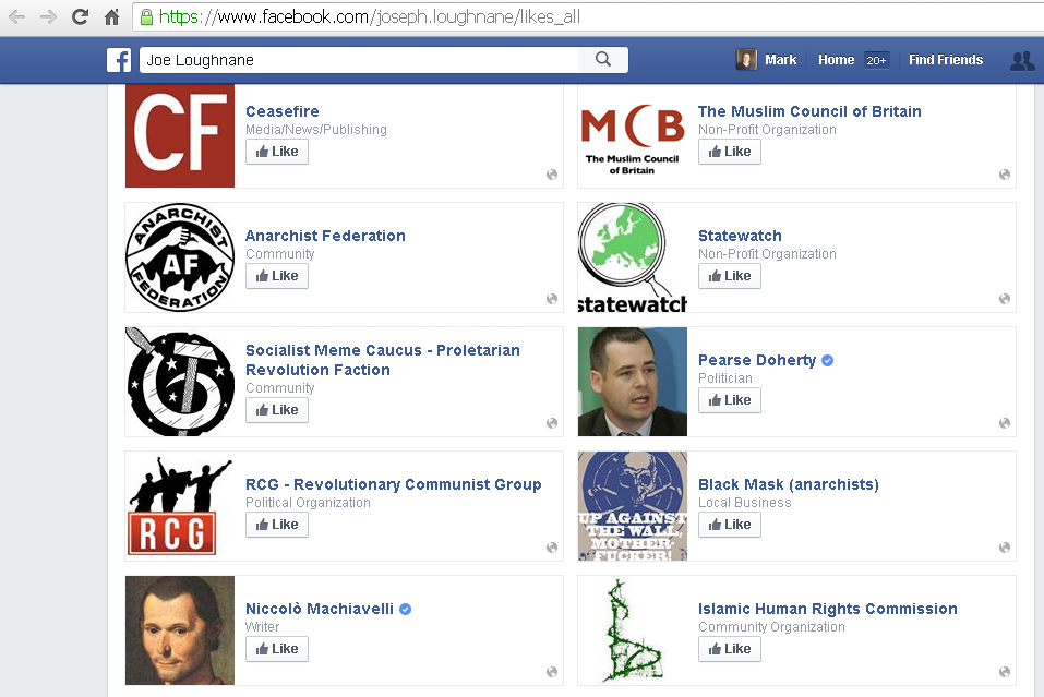 anti communist facebook pages