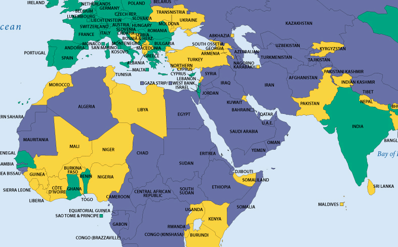 Countries map muslim Maps of
